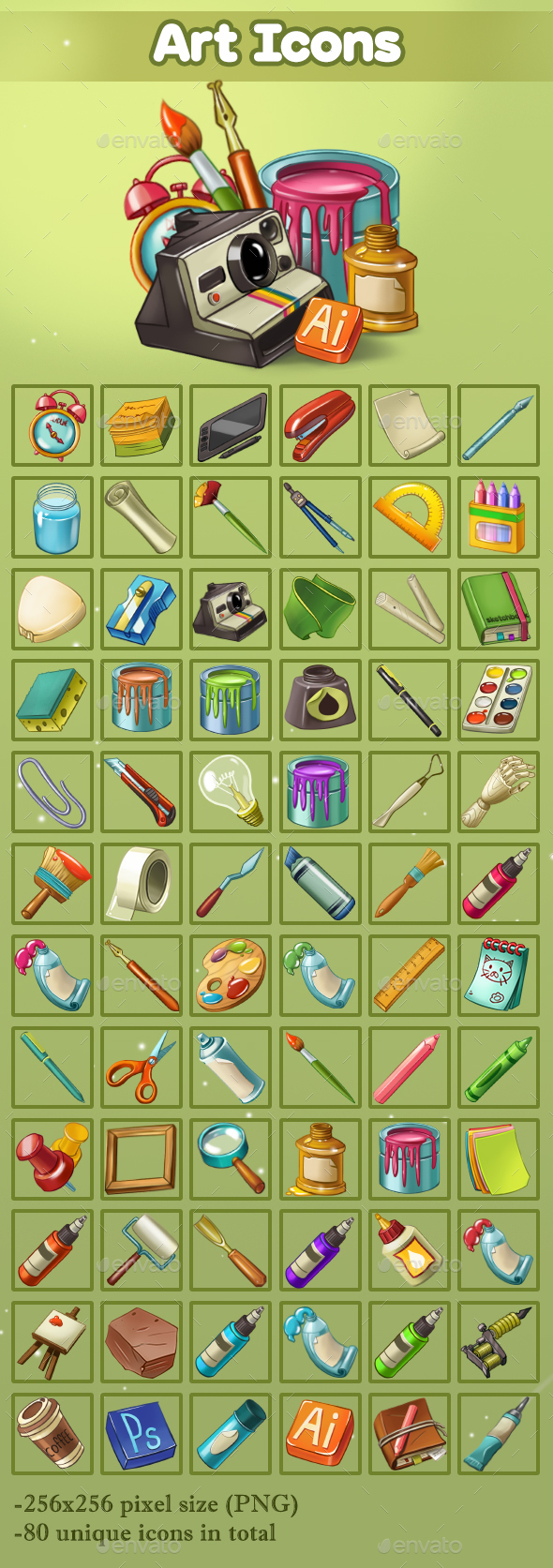Art Icons - Miscellaneous Game Assets