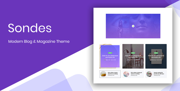 Sondes - Ultimate Blogging Solution PSD Design - Creative PSD Templates