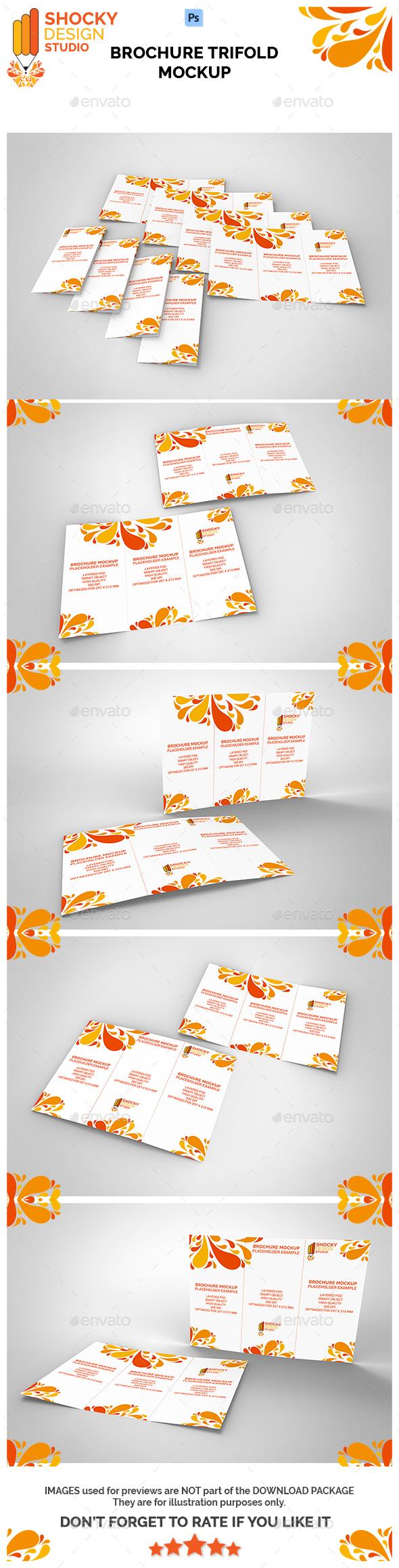 Brochure Trifold Mockup - Brochures Print