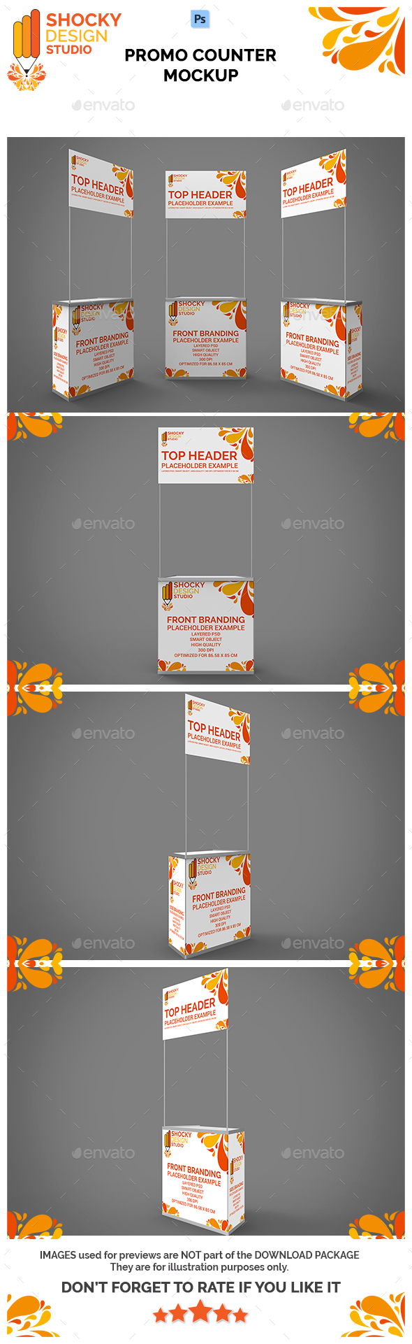 Promo Counter Mockup - Miscellaneous Product Mock-Ups