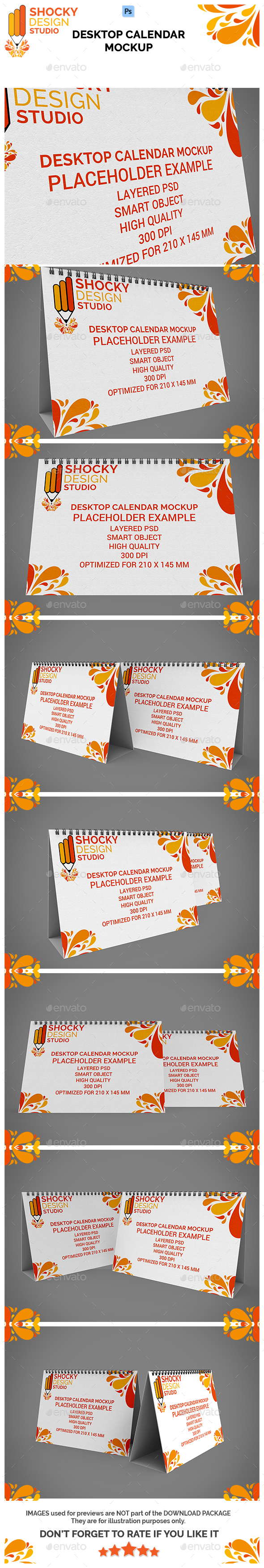 Desktop Calendar Mockup - Print Product Mock-Ups