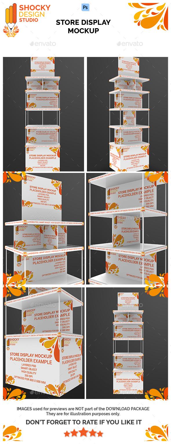 Store Display Mockup - Miscellaneous Print