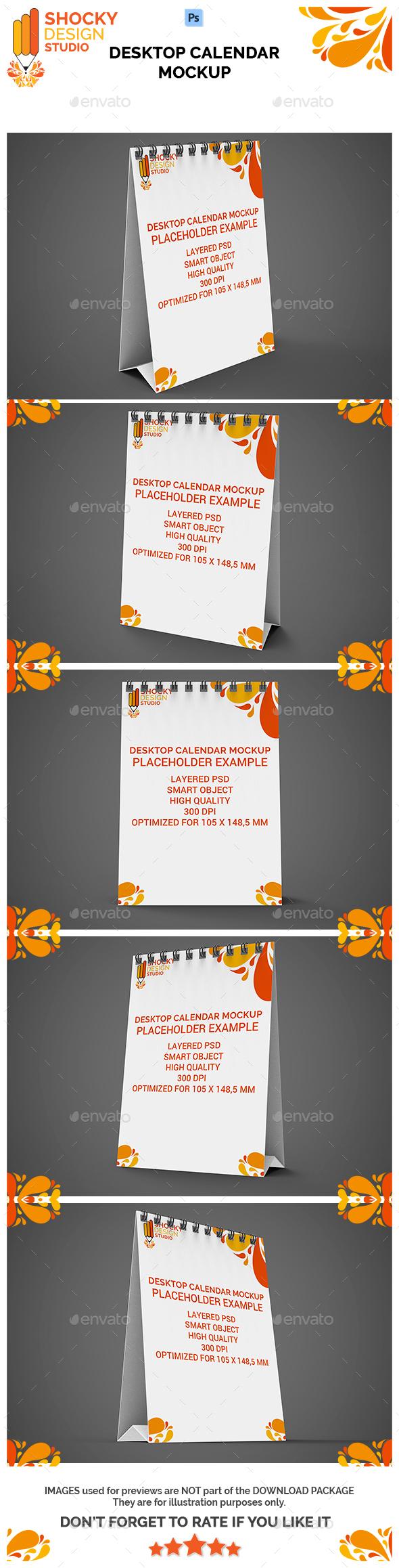 Desktop Calendar A6 Mockup - Signage Print