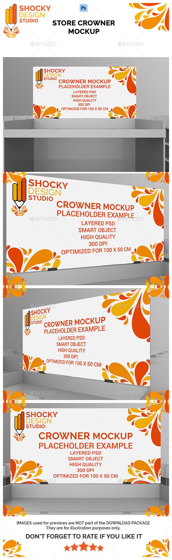 Store Crowner Mockup - Signage Print