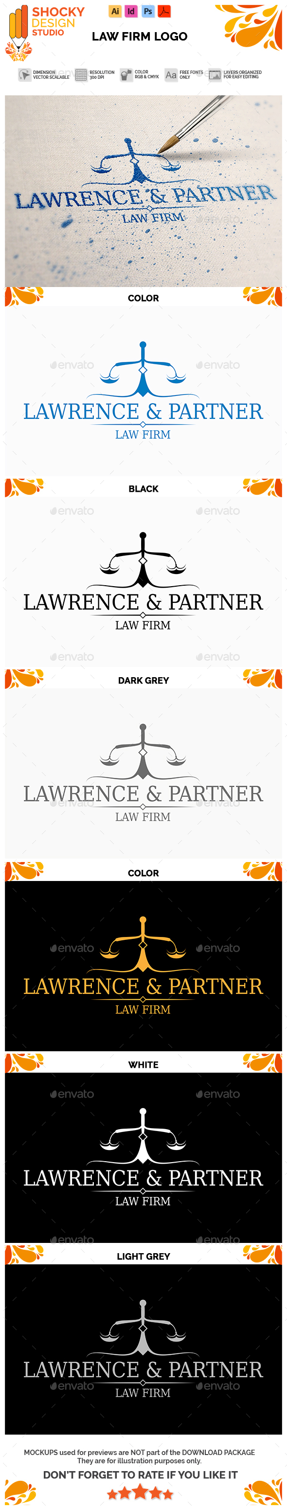 Law Firm Logo - Letters Logo Templates