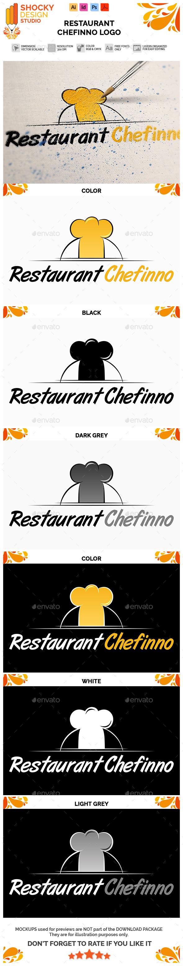 Restaurant Chefinno Logo - Food Logo Templates