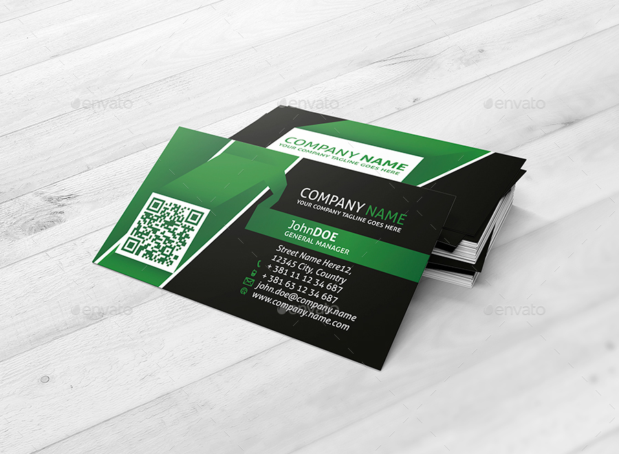 Corporate Business Card Ribbon Template by shockydesign | GraphicRiver
