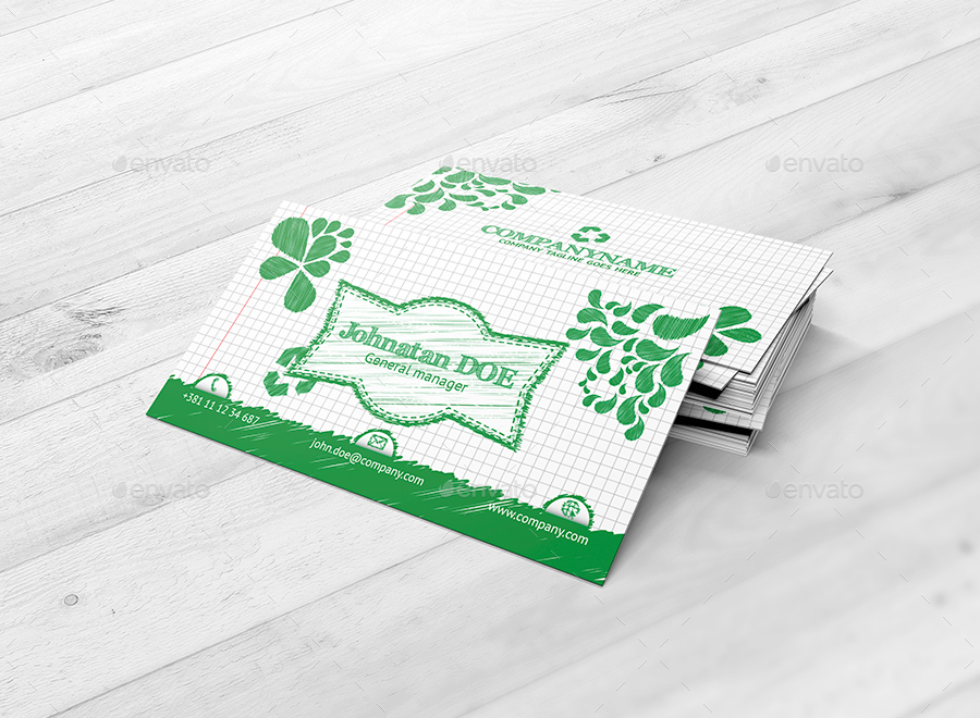 Modern Business Card Sketch Template by shockydesign | GraphicRiver
