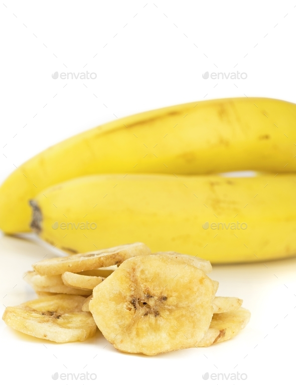 Dried Banana Chips - Stock Photo - Images