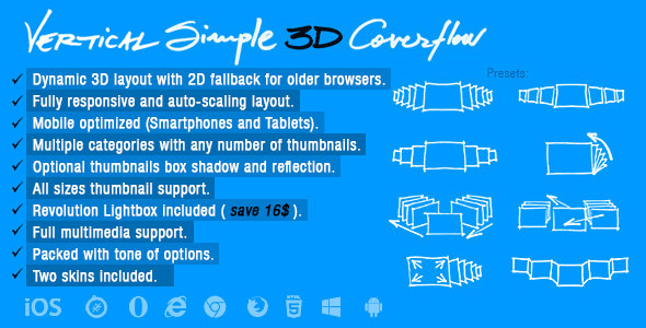 Vertical Simple 3D Coverflow - CodeCanyon Item for Sale