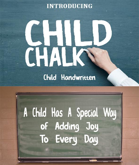 Child Chalk Font - Handwriting Fonts