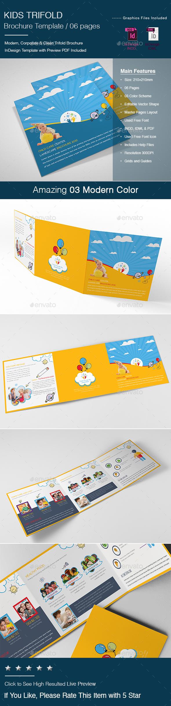Kids Tri-Fold Brochure - Brochures Print Templates