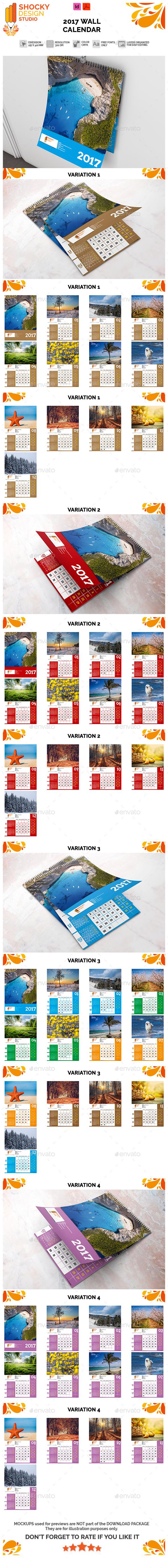 2017 Wall Calendar - Calendars Stationery
