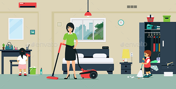Clean the Room - Buildings Objects