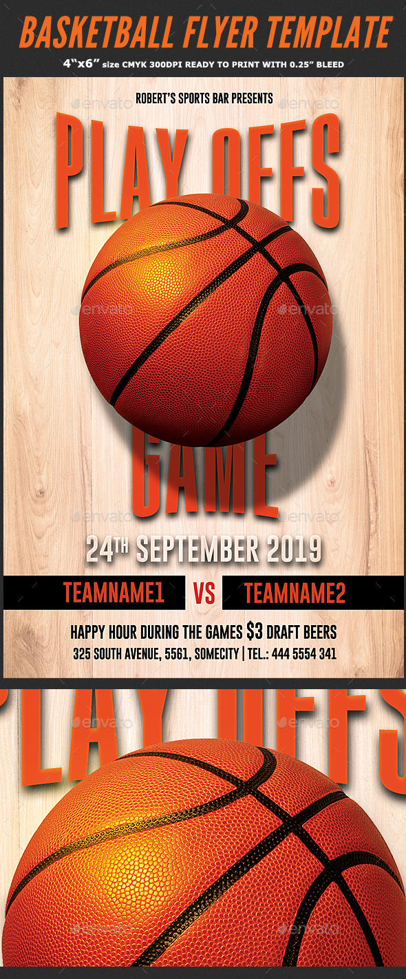 Basketball Playoffs Flyer Template - Sports Events