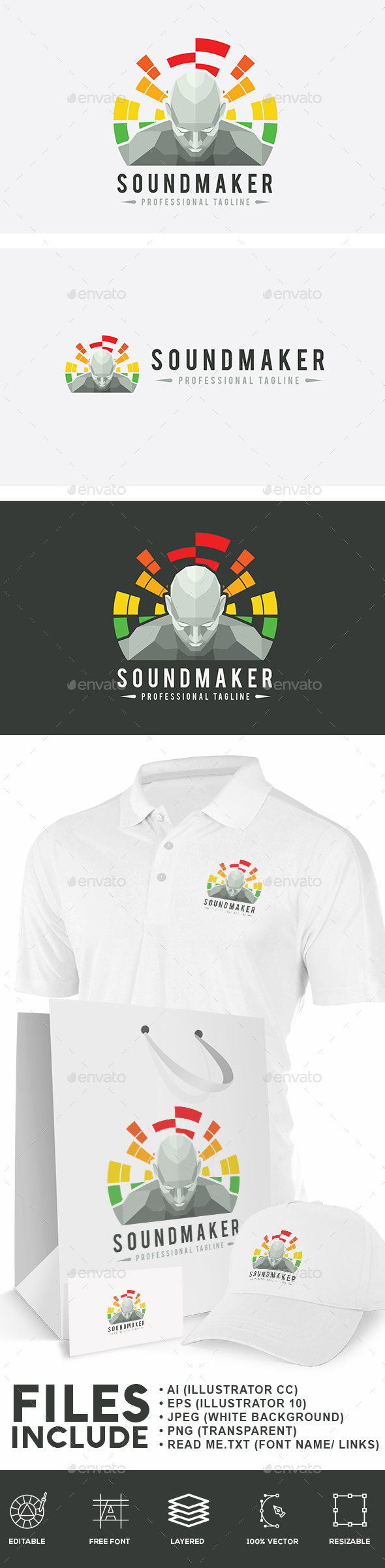 Sound Maker Logo - Humans Logo Templates