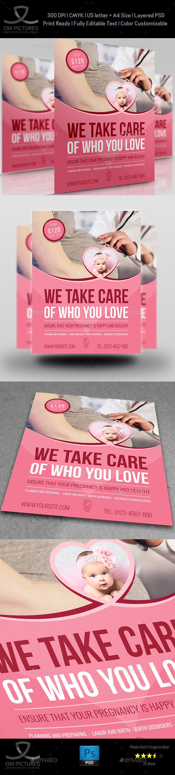 Pregnancy Flyer Template Vol.2 - Flyers Print Templates