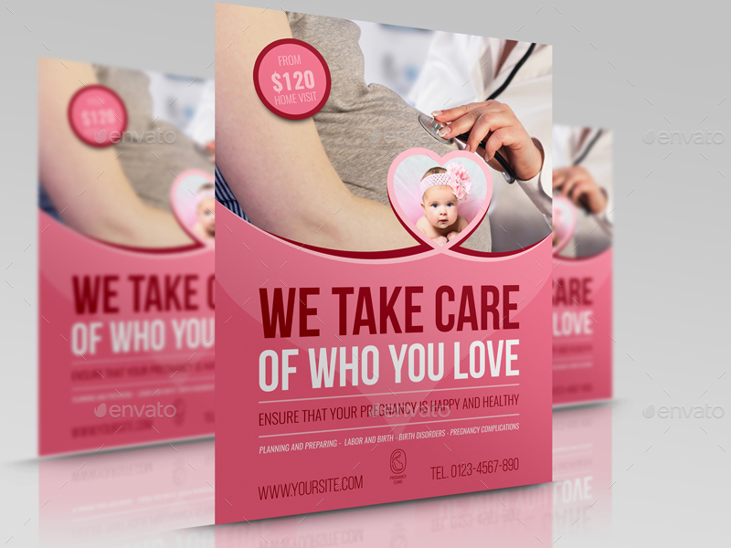 Pregnancy Flyer Template Vol.2