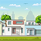 Illustration of Modern Family Houses - GraphicRiver Item for Sale