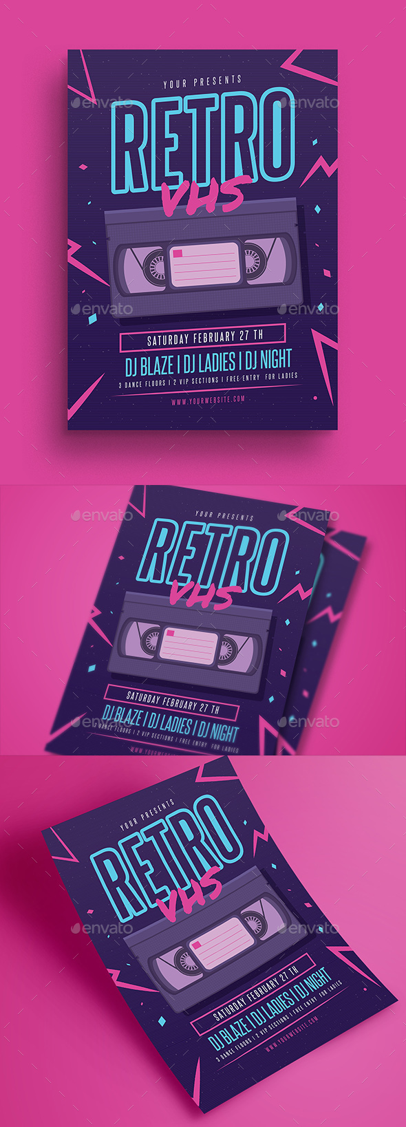 Retro VHS Music Flyer - Events Flyers