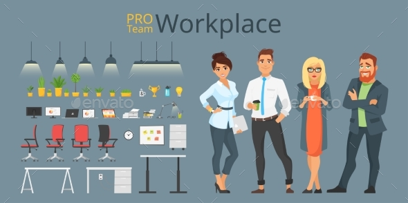 Workplace Elements and Characters - People Characters