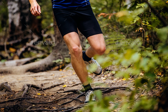 real legs runner man - Stock Photo - Images