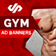 Fitness and Gym Ad Banners - AR - GraphicRiver Item for Sale