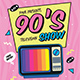 90's TV Show Event Flyer - GraphicRiver Item for Sale