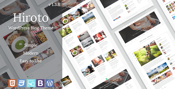 Hiroto - Responsive WordPress Blog Theme - Personal Blog / Magazine