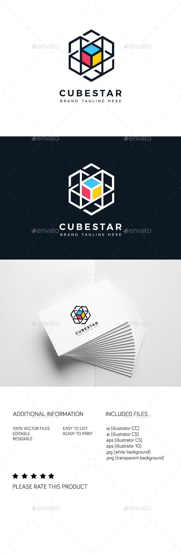 Cube Star Logo - Abstract Logo Templates