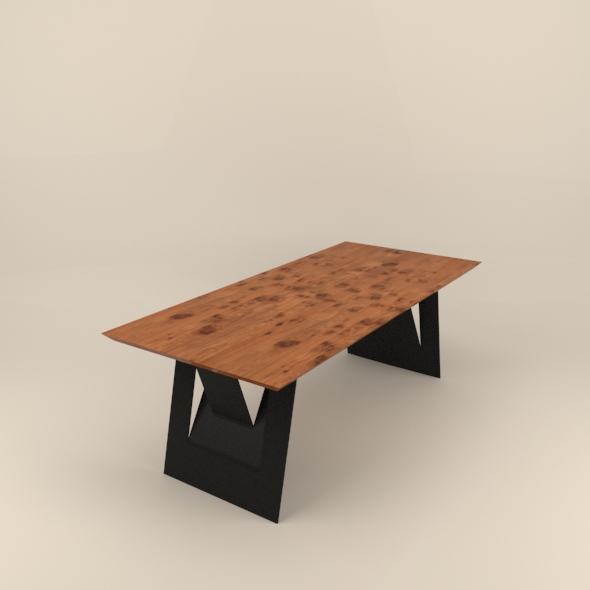 Industrial table - 3DOcean Item for Sale