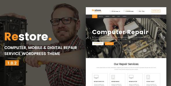 Restore - Computer, Mobile & Digital Repair Service WordPress Theme - Technology WordPress