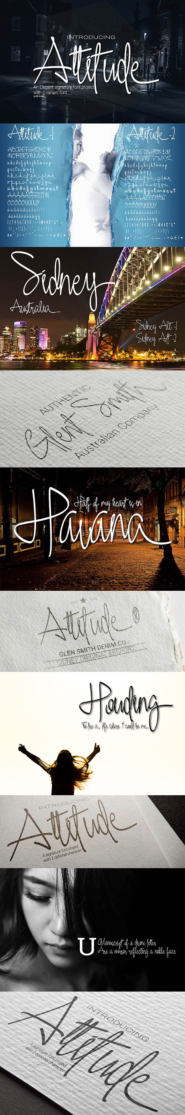 Attitude - Hand-writing Script
