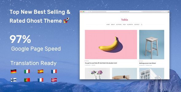 Nubia – Make Your Ghost Blog Beautiful & Make It Fast & Accessible