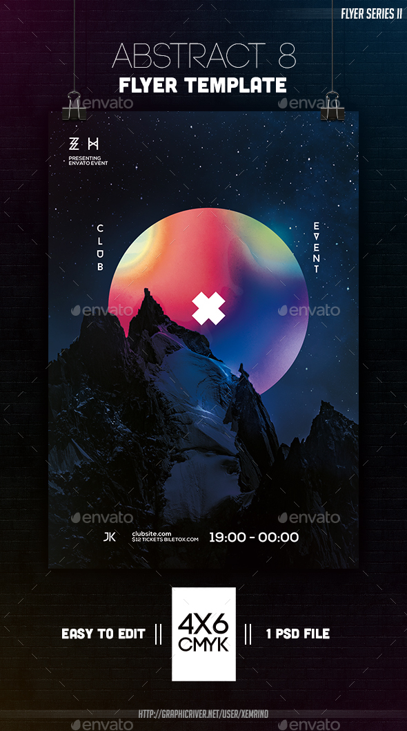 Abstract 8 Flyer Template - Clubs & Parties Events