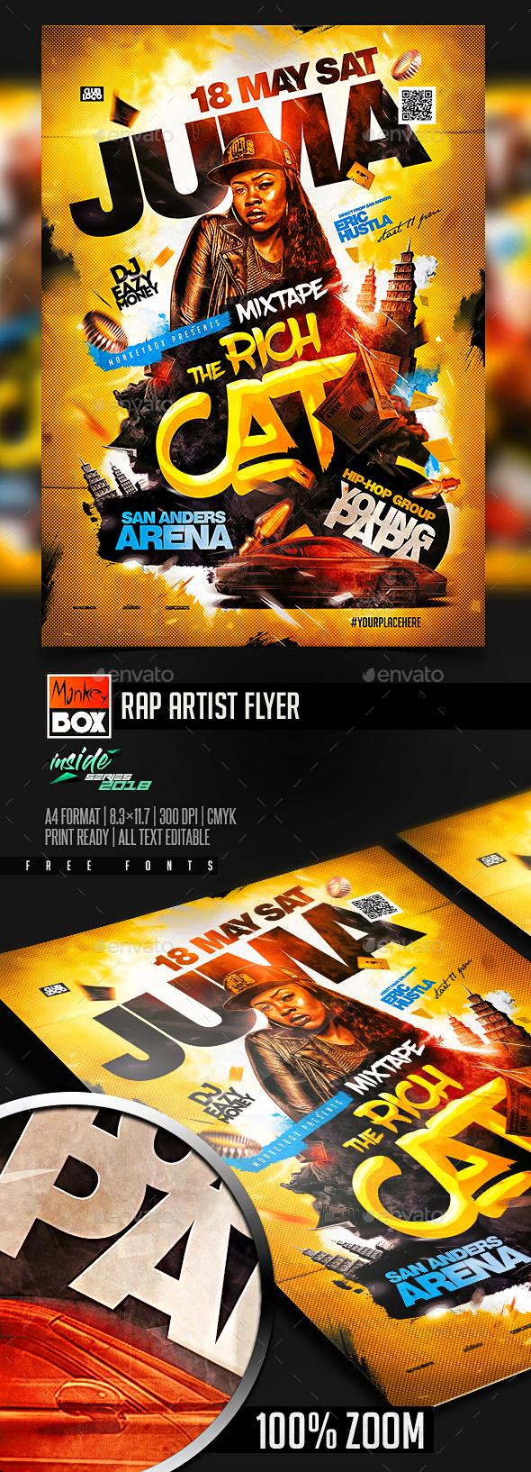 Rap Artist Flyer - Clubs & Parties Events