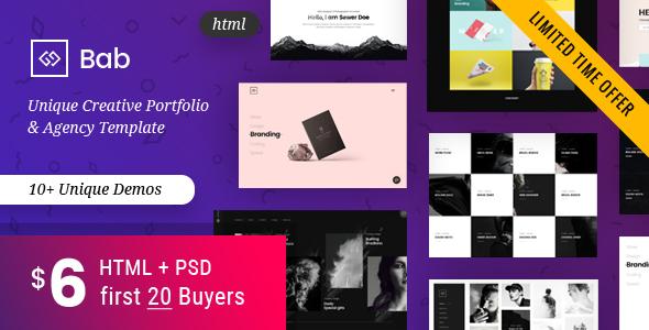 Portfolio HTML Template - BAB - Portfolio Creative