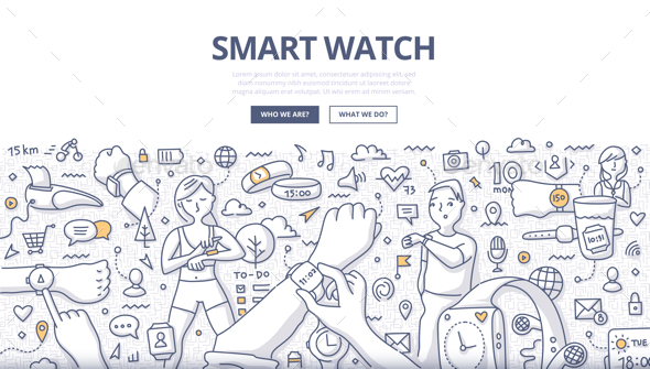 Smart Watch Doodle Concept - Media Technology