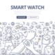 Smart Watch Doodle Concept - GraphicRiver Item for Sale