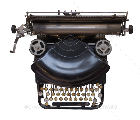 Old Fashioned Typewriter - Stock Photo - Images