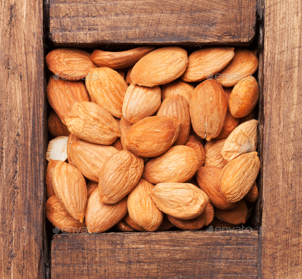 Almonds nuts - Stock Photo - Images
