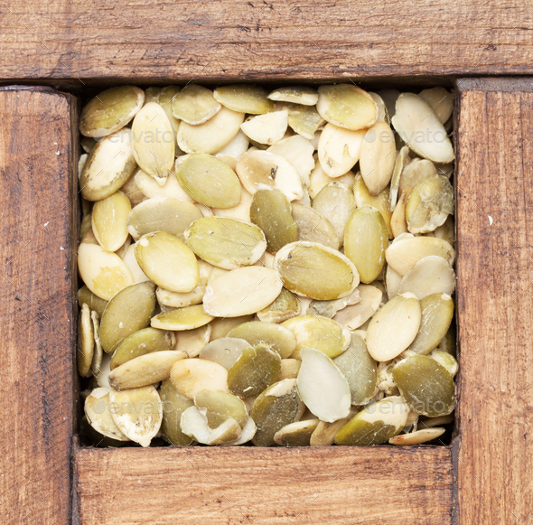 Pumpkin seeds - Stock Photo - Images