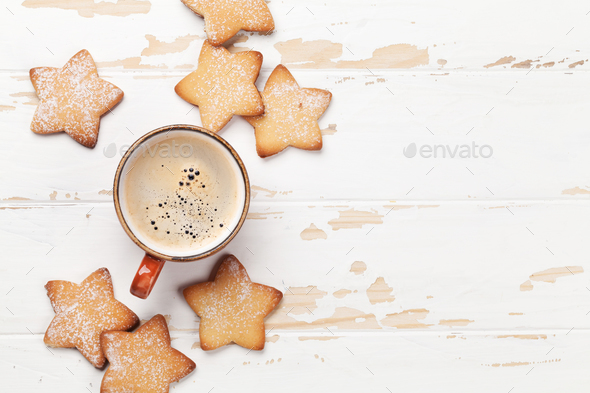 Cookies and coffee - Stock Photo - Images