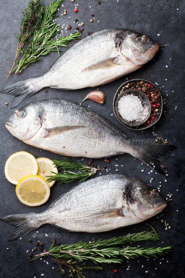 Raw dorado fish - Stock Photo - Images