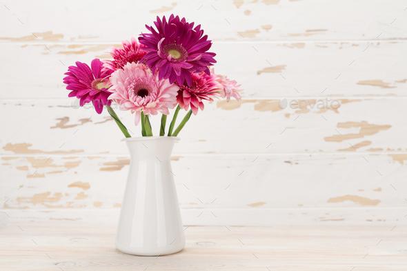 Gerbera flowers bouquet - Stock Photo - Images