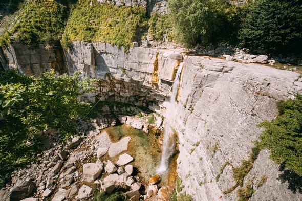 Kinchkha Waterfall, Kinchkhaferdi Road, Kinchkhaperdi. Okatse - - Stock Photo - Images