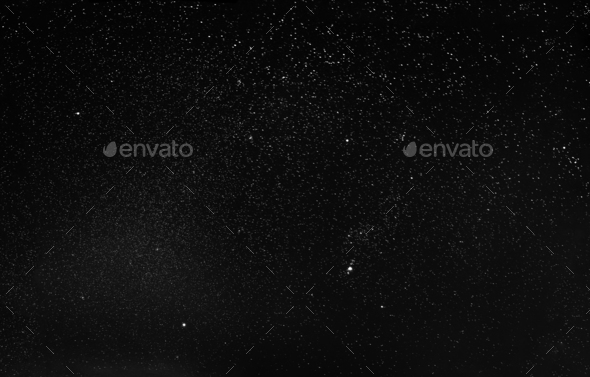 Night Starry Sky Background. Night View Of Natural Glowing Stars - Stock Photo - Images
