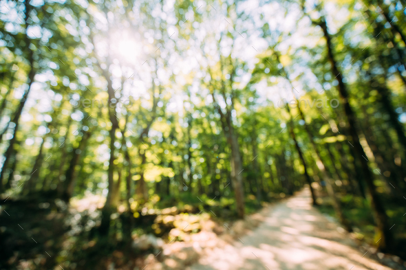 Blurred Abstract Bokeh Boke Natural Background Of Walkway Path L - Stock Photo - Images