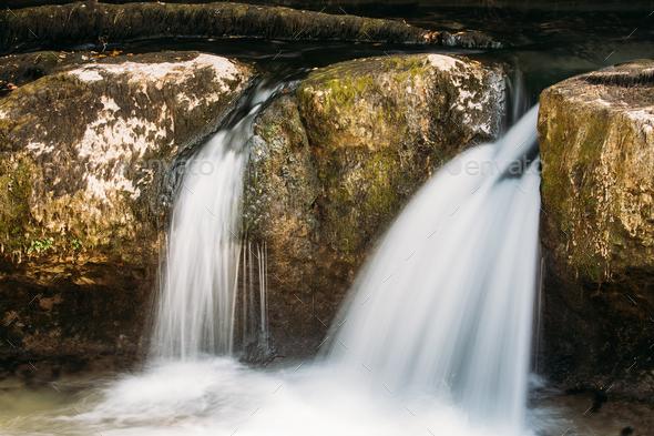 Waterfalls In Martvili Canyon, Georgia. Landscape Abasha River. - Stock Photo - Images