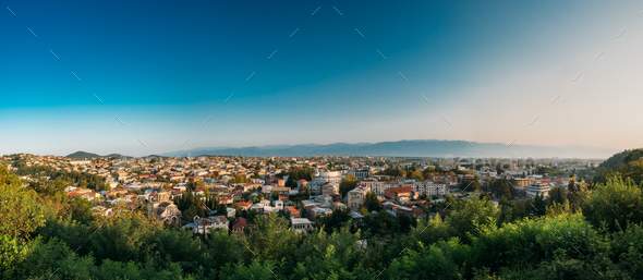 Kutaisi, Georgia. Cityscape In Sunny Autumn Evening - Stock Photo - Images